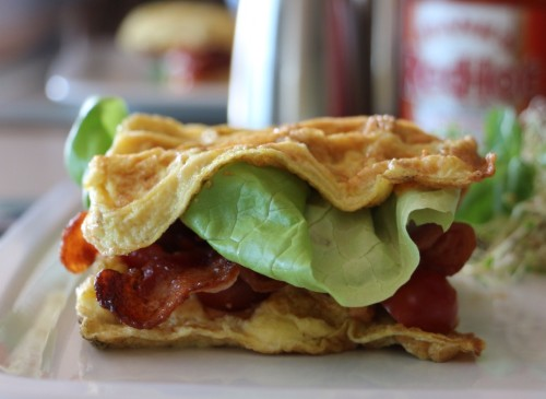 Egg waffled BLT