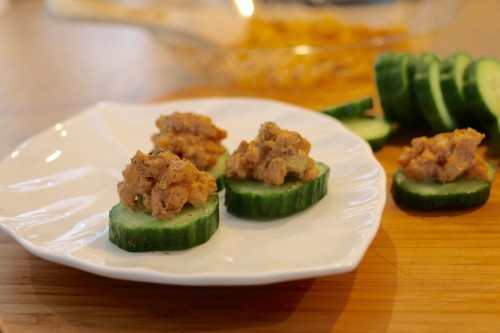 Shrimp Cucumber Appetizers