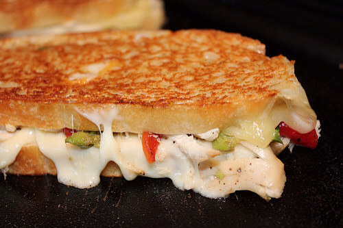 Chicken Avocado Grilled Cheese