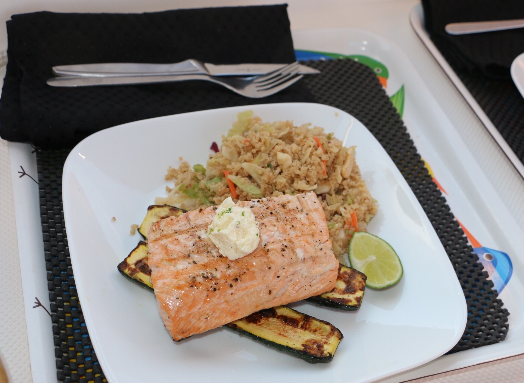 recipe: salmon with lime butter sauce [23]