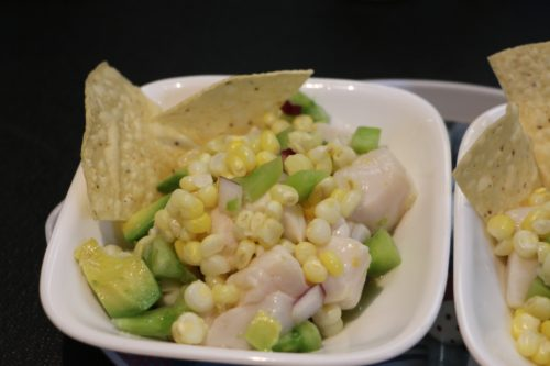 FRESH DIGBY SCALLOP and GRILLED CORN CEVICHE